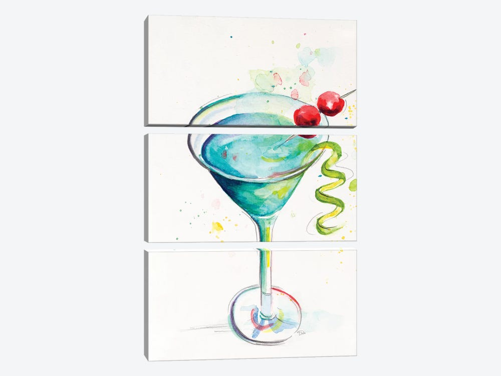 Cocktail II by Patricia Pinto 3-piece Canvas Print