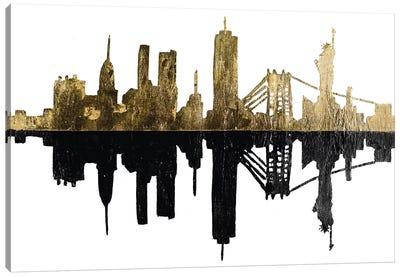 Contemporary Ny Gold Canvas Art Print