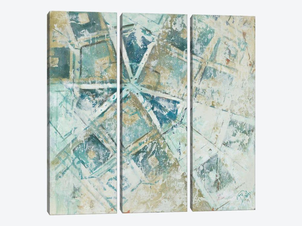 Beach Umbrella Abstract I by Patricia Pinto 3-piece Canvas Wall Art