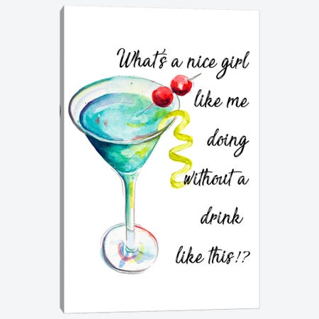 Drink Up Canvas Print #PPI430} by Patricia Pinto Art Print
