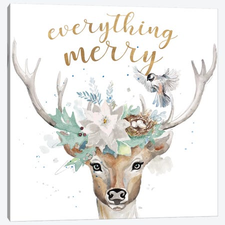 Everything Merry Canvas Print #PPI431} by Patricia Pinto Canvas Print