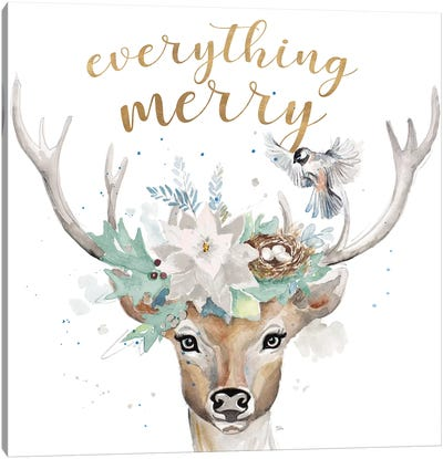 Everything Merry Canvas Art Print