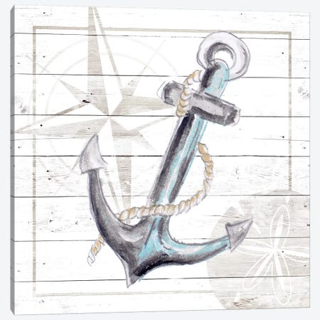 Explore Nautical I Canvas Print #PPI433} by Patricia Pinto Canvas Art Print