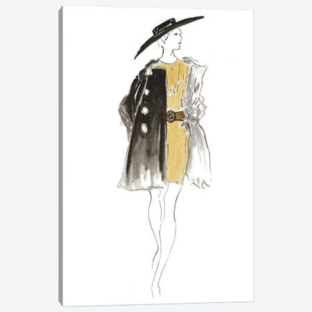 Fashion Sketch I Canvas Print #PPI438} by Patricia Pinto Art Print