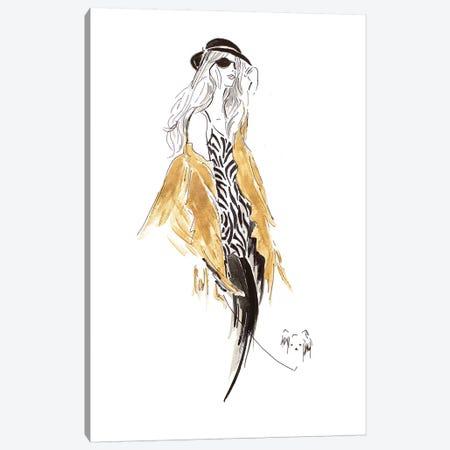 Fashion Sketch II 3-Piece Canvas #PPI439} by Patricia Pinto Canvas Print