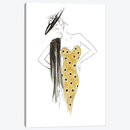 Fashion Sketch III Canvas Print #PPI440} by Patricia Pinto Canvas Art