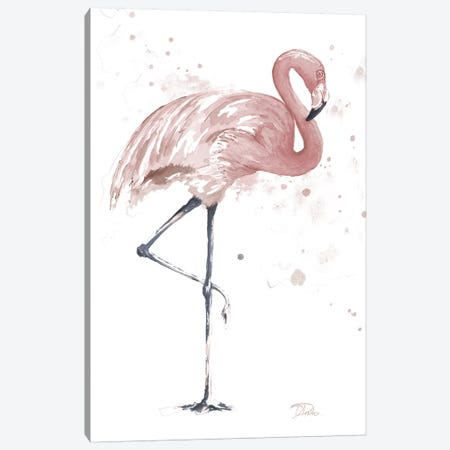 Flamingo Stand II Canvas Print #PPI443} by Patricia Pinto Canvas Wall Art