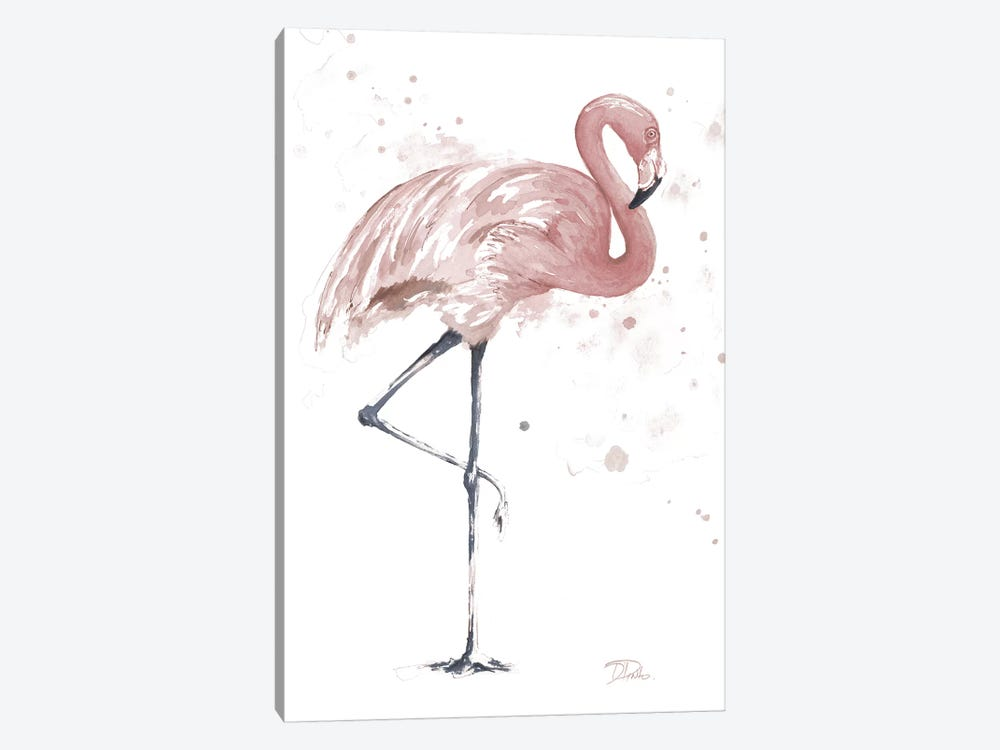 Flamingo Stand II by Patricia Pinto 1-piece Canvas Art Print