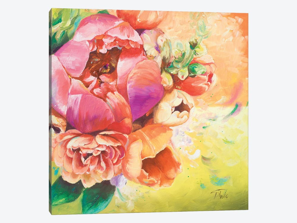 Beautiful Bouquet of Peonies I by Patricia Pinto 1-piece Canvas Wall Art