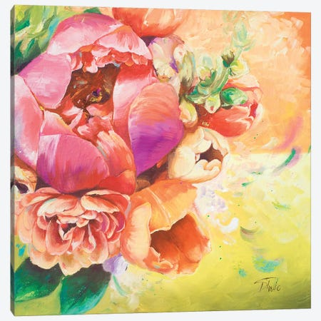 Beautiful Bouquet of Peonies I 3-Piece Canvas #PPI44} by Patricia Pinto Canvas Wall Art