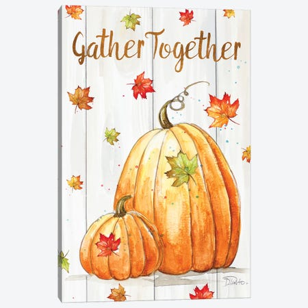 Gather Together Pumpkin Canvas Print #PPI451} by Patricia Pinto Art Print