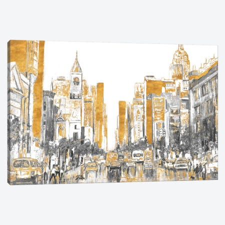 Golden City Canvas Print #PPI455} by Patricia Pinto Canvas Wall Art