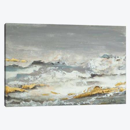 Golden Rocks Canvas Print #PPI456} by Patricia Pinto Canvas Artwork