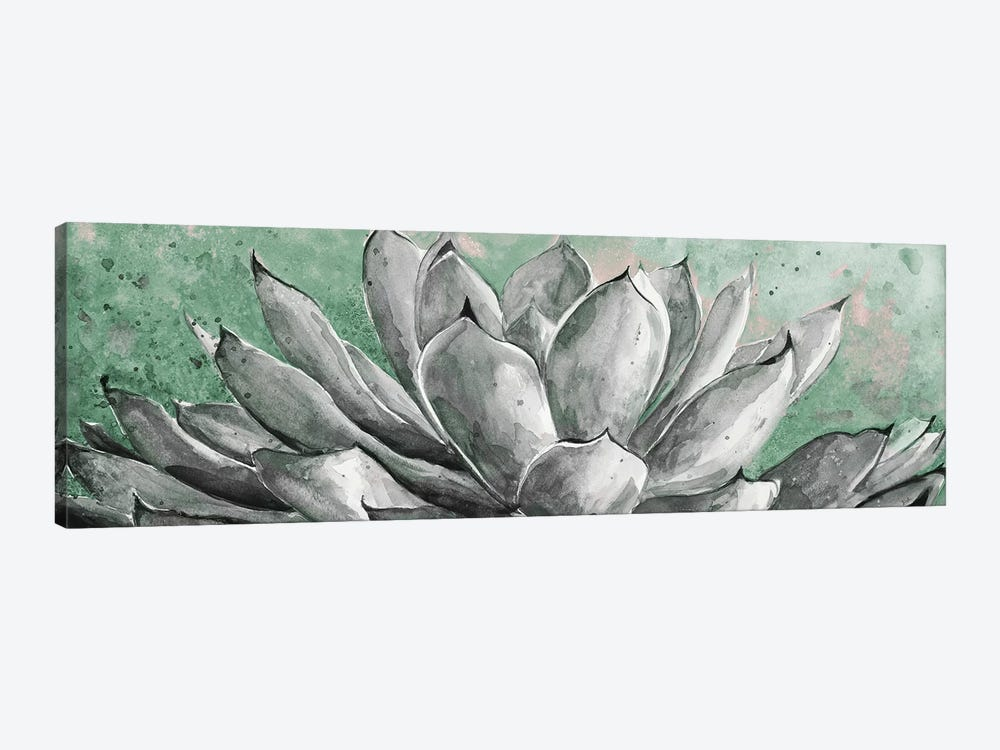 Gray Agave On Green by Patricia Pinto 1-piece Canvas Wall Art