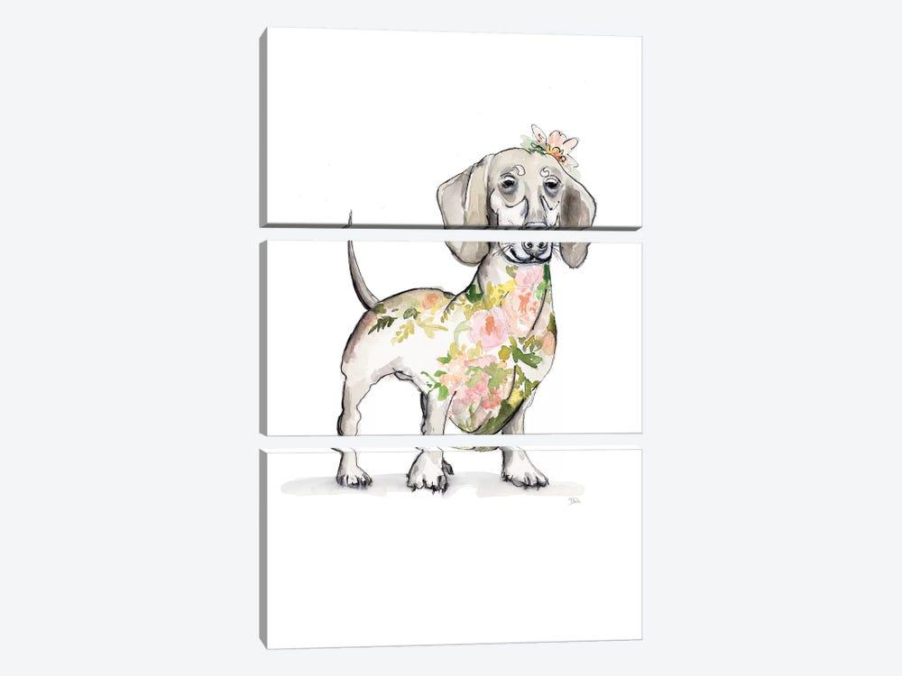 Happy Doggie by Patricia Pinto 3-piece Canvas Wall Art