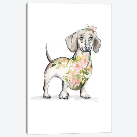 Happy Doggie Canvas Print #PPI459} by Patricia Pinto Canvas Print