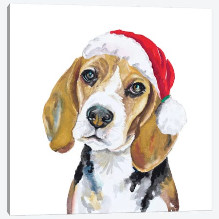 Holiday Dog I Canvas Print #PPI463} by Patricia Pinto Canvas Art