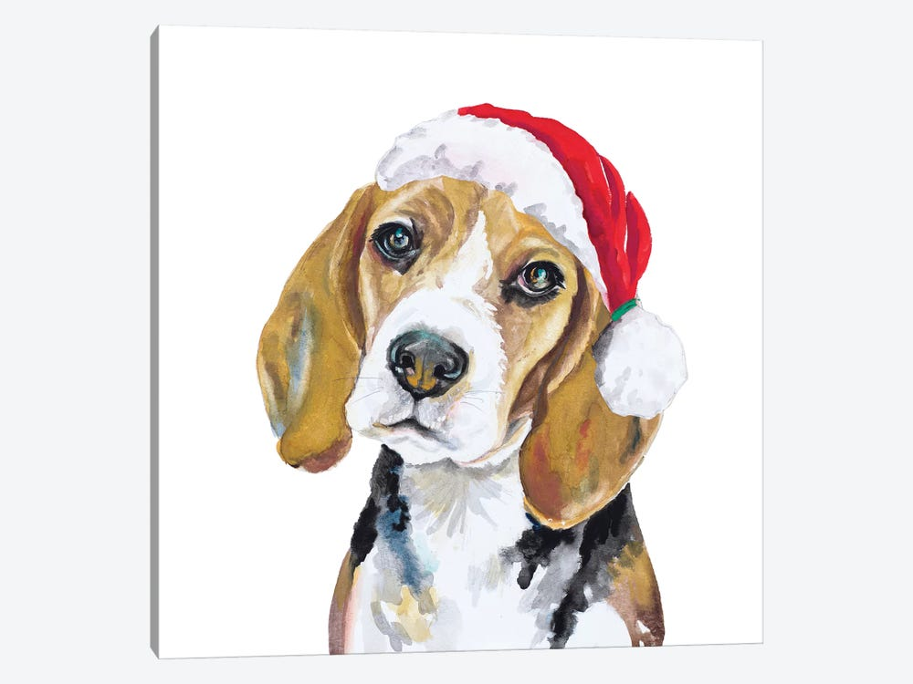 Holiday Dog I by Patricia Pinto 1-piece Canvas Art Print