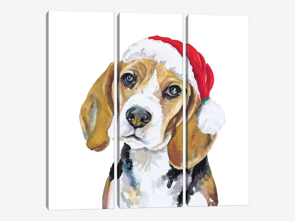 Holiday Dog I by Patricia Pinto 3-piece Art Print