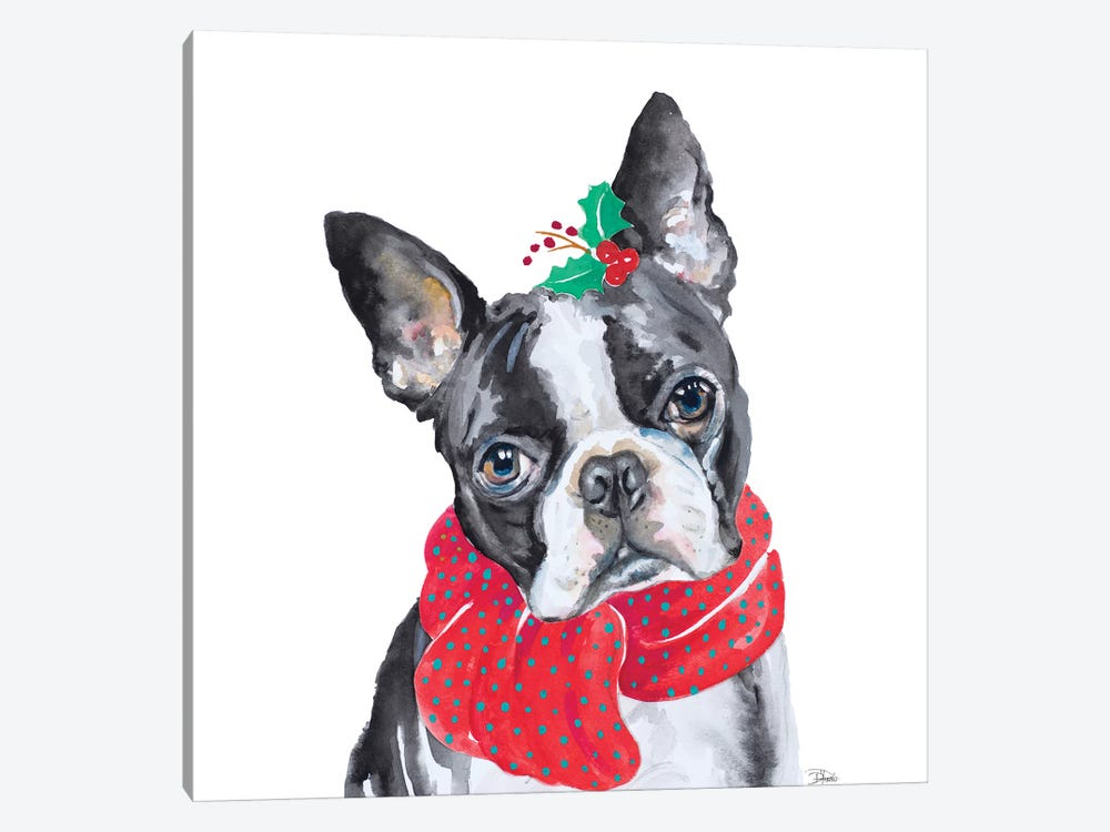 Holiday Dog II by Patricia Pinto 1-piece Canvas Art