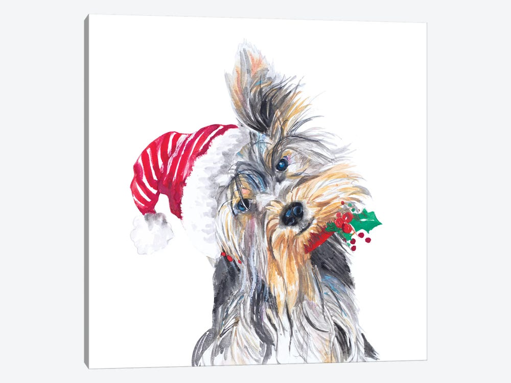 Holiday Dog III by Patricia Pinto 1-piece Canvas Art Print