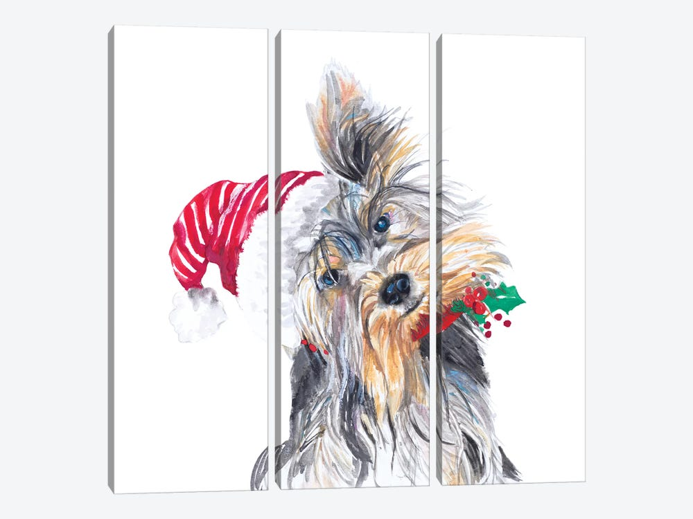 Holiday Dog III by Patricia Pinto 3-piece Art Print