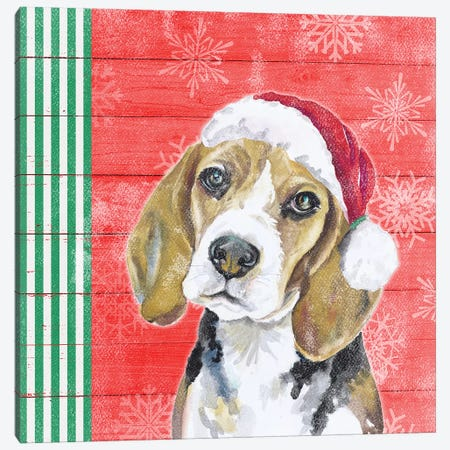 Holiday Puppy I Canvas Print #PPI467} by Patricia Pinto Canvas Print