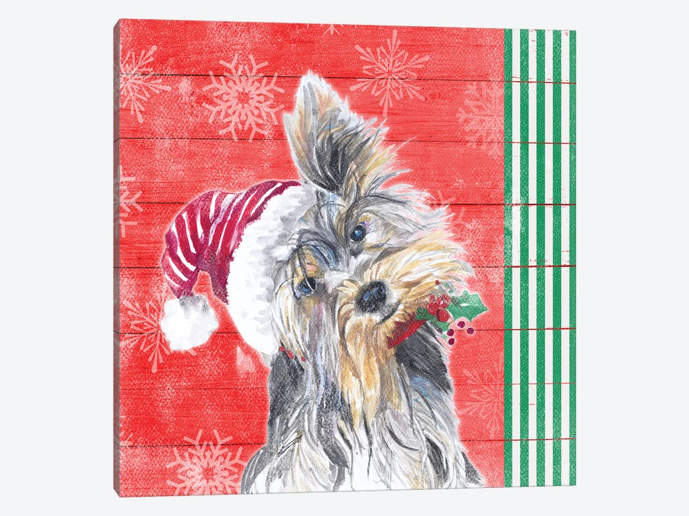 Holiday Puppy III by Patricia Pinto 1-piece Canvas Art Print