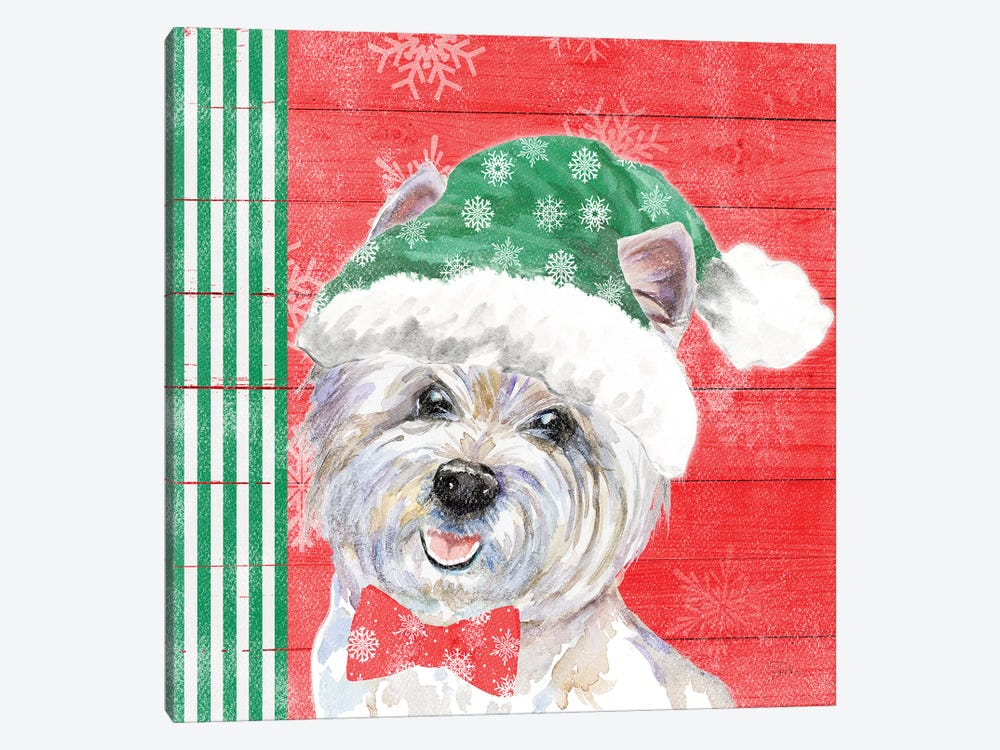 Holiday Puppy IV by Patricia Pinto 1-piece Canvas Print