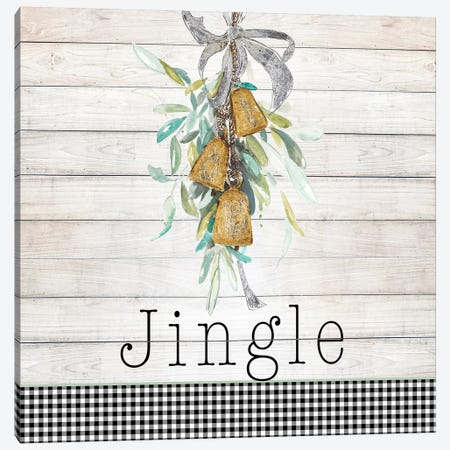 Jingle Bell Wreath Canvas Print #PPI474} by Patricia Pinto Canvas Wall Art