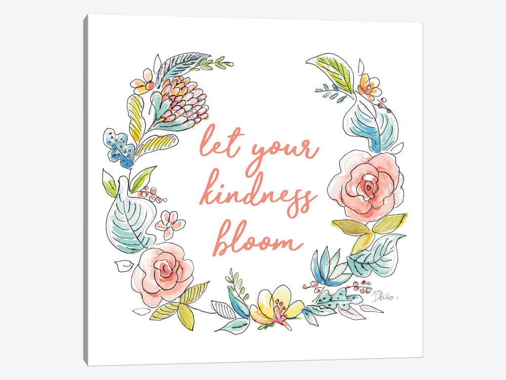 Let Your Kindness Bloom by Patricia Pinto 1-piece Canvas Wall Art
