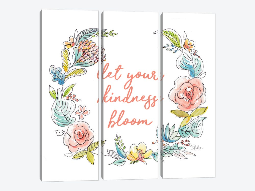 Let Your Kindness Bloom by Patricia Pinto 3-piece Canvas Wall Art