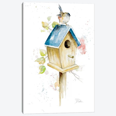 Bird House I Canvas Print #PPI48} by Patricia Pinto Canvas Art Print