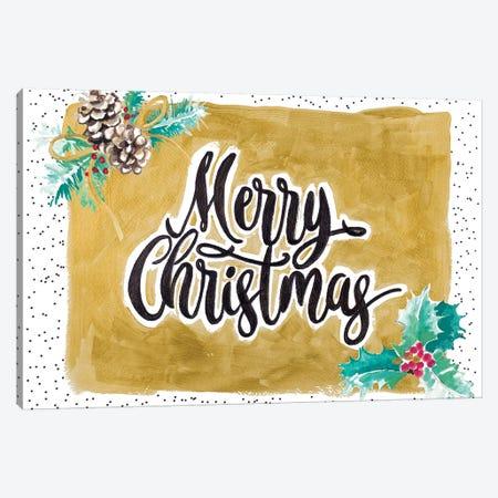 Merry Christmas Canvas Print #PPI490} by Patricia Pinto Canvas Print