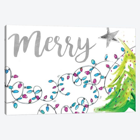 Merry With Lights Canvas Print #PPI491} by Patricia Pinto Art Print