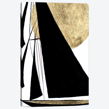 Midnight Black Sailing Canvas Print #PPI492} by Patricia Pinto Canvas Art Print