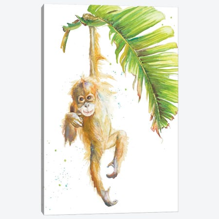 Monkeys In The Jungle I Canvas Print #PPI494} by Patricia Pinto Canvas Artwork