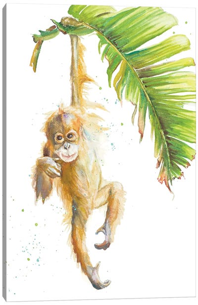 Monkeys In The Jungle I Canvas Art Print