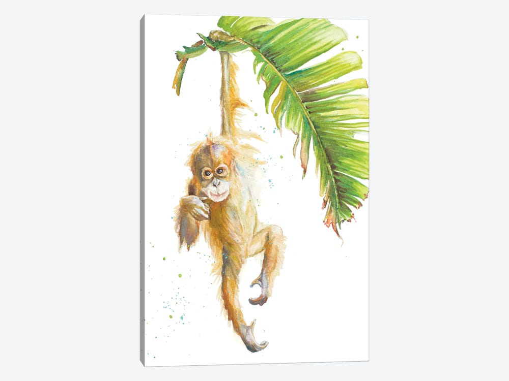 Monkeys In The Jungle I by Patricia Pinto 1-piece Canvas Art Print