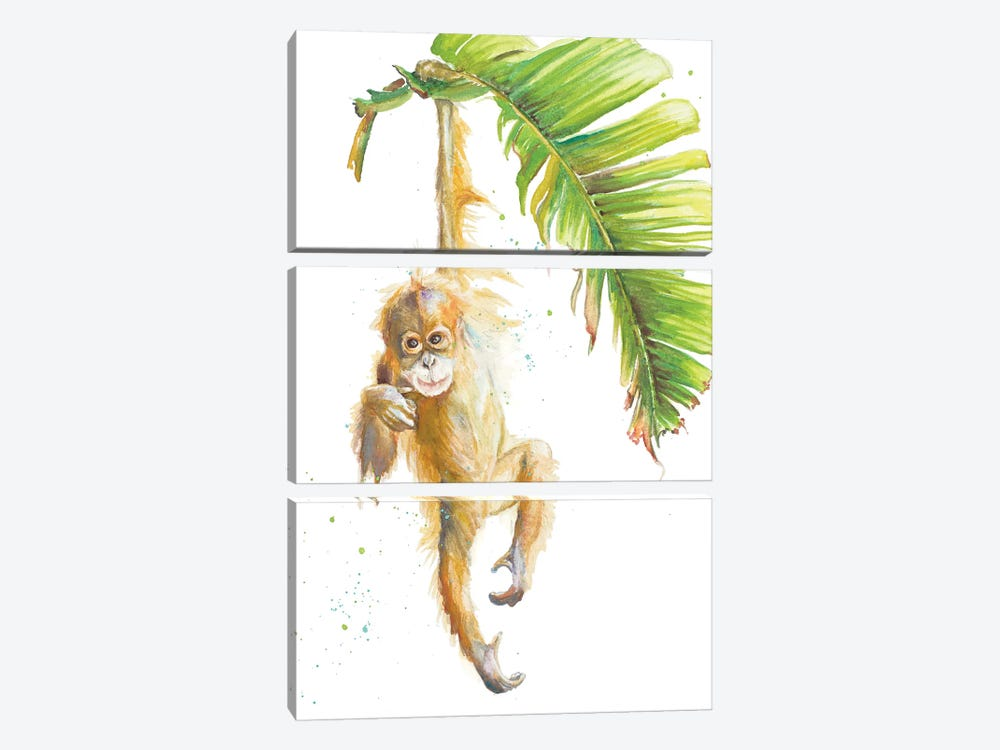 Monkeys In The Jungle I by Patricia Pinto 3-piece Art Print