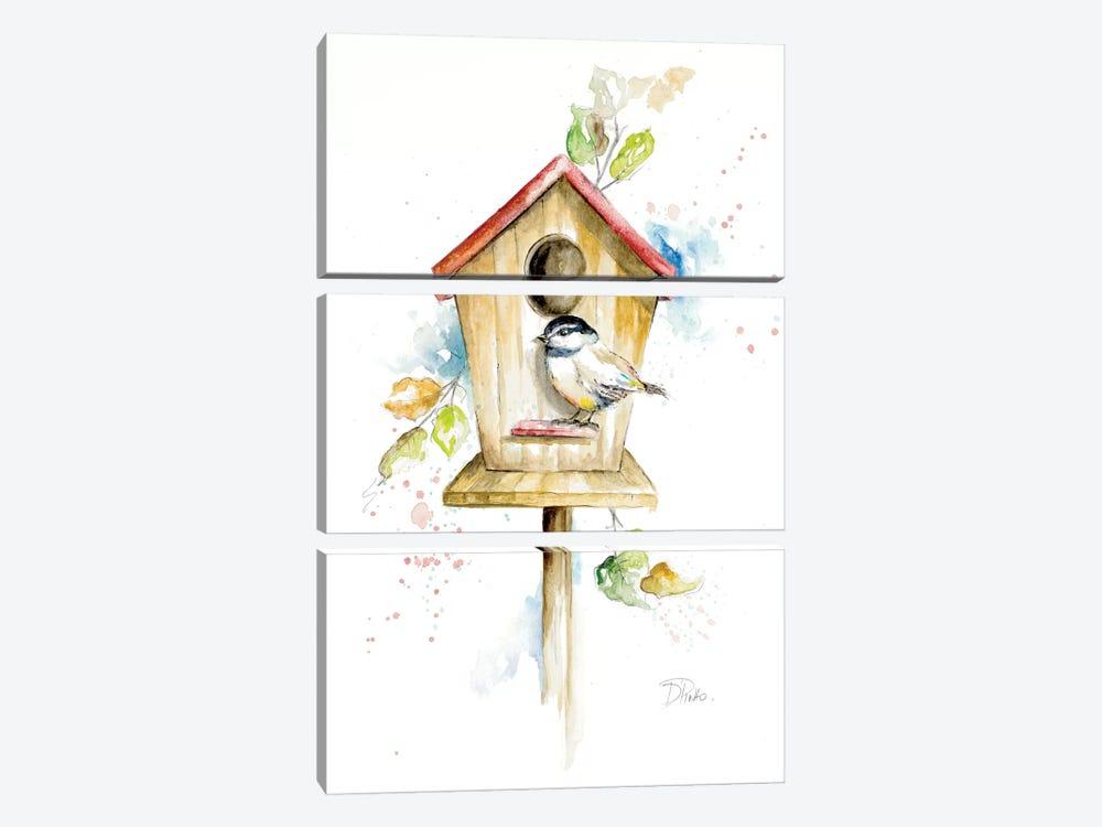 Bird House II by Patricia Pinto 3-piece Art Print