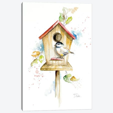 Bird House II Canvas Print #PPI49} by Patricia Pinto Canvas Print