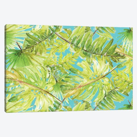 New Greens On Blue Canvas Print #PPI506} by Patricia Pinto Canvas Wall Art