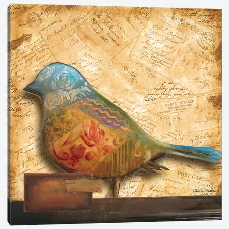 Bird of Collage I Canvas Print #PPI50} by Patricia Pinto Canvas Wall Art