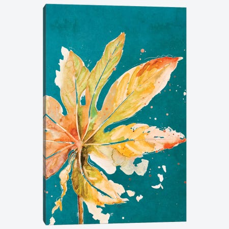 Palma Nueva On Teal Canvas Print #PPI518} by Patricia Pinto Canvas Wall Art