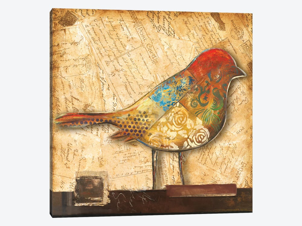 Bird of Collage II by Patricia Pinto 1-piece Canvas Artwork