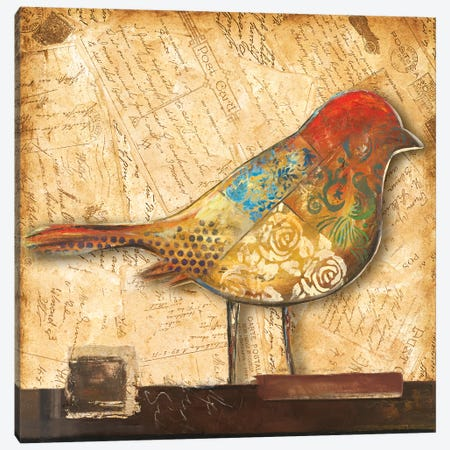 Bird of Collage II Canvas Print #PPI51} by Patricia Pinto Canvas Art