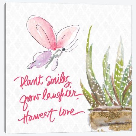 Plant Smiles Canvas Print #PPI527} by Patricia Pinto Canvas Art