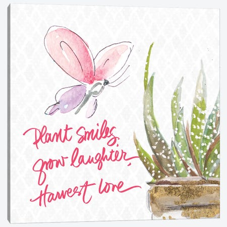 Plant Smiles Canvas Print #PPI527} by Patricia Pinto Canvas Art