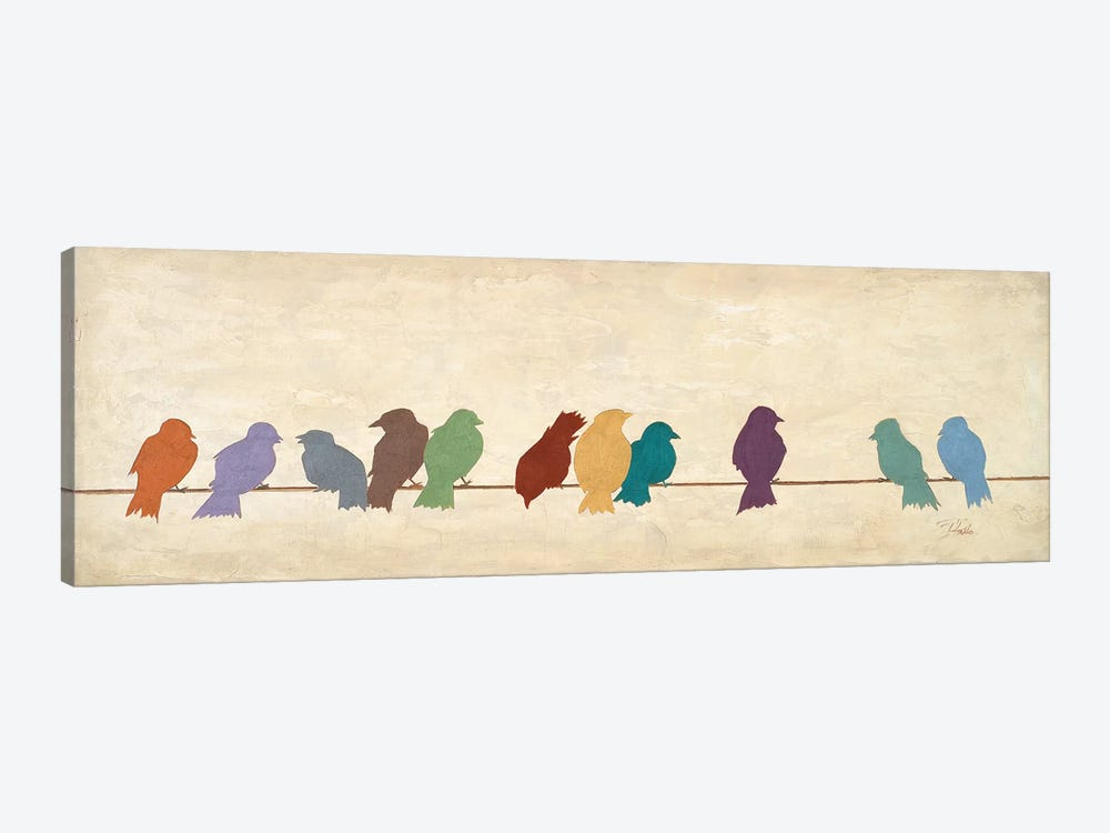 Birds Meeting  (assorted colors) by Patricia Pinto 1-piece Canvas Art Print